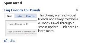 Wish Diwali through Status Updates on Facebook!